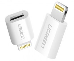 Adapter Lightning do micro USB MFi UGREEN 2.4A (biały)