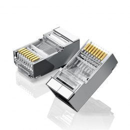 Metalowa wtyczka RJ45 UGREEN Ethernet, 8P/8C, Cat.6, UTP (10szt.)