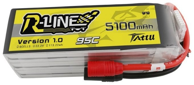 Akumulator Tattu R-Line 5100mAh 22,2V 95C 6S1P AS150
