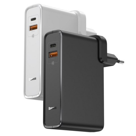 Ładowarka GaN + powerbank 10000mAh 2w1 Baseus Power Station, USB + USB-C, QC 3.0, PPS, PD 3.0, 5A, 45W (czarna)
