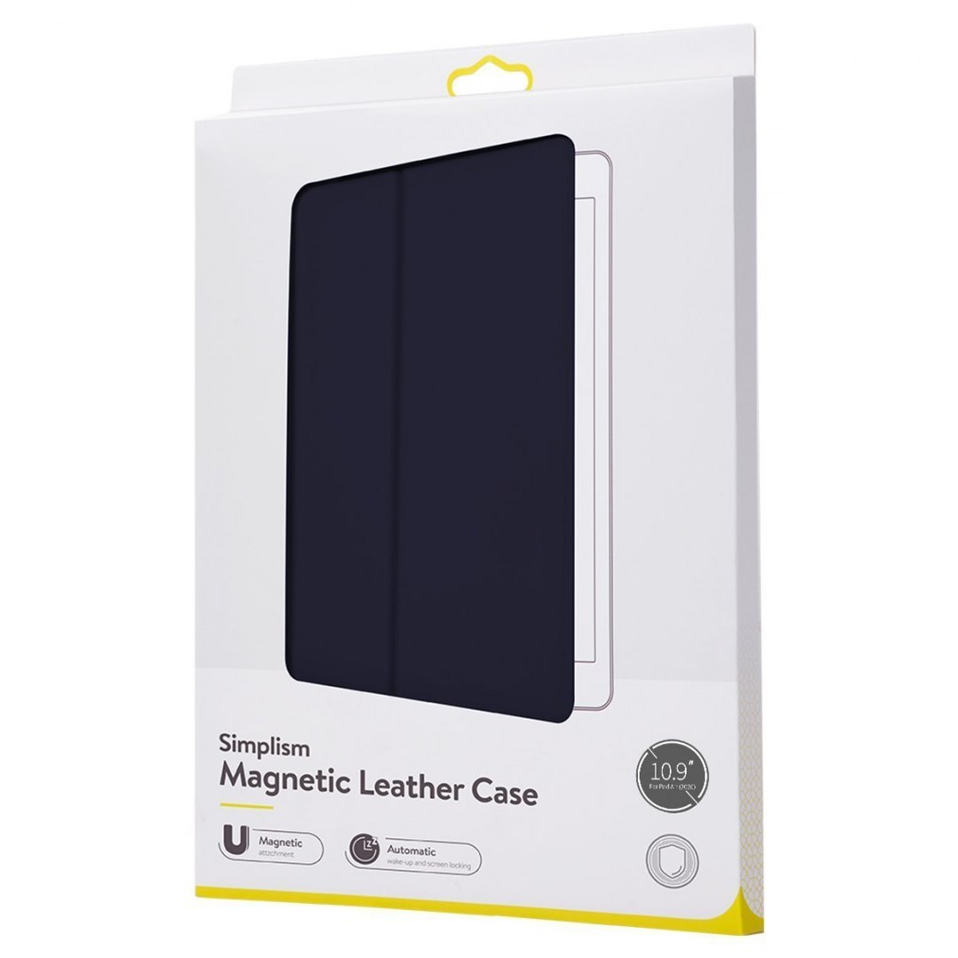 Etui Baseus Simplism Magnetic Leather Case do iPad Air 10.9 cali (2020) - Niebieskie